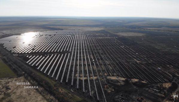 Солнечная электростанция под Новокуйбышевском официально вышла на полную мощность